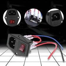 220V/110V Power Switch Plastic Triple Outlet Socket with Fuse for 3D Printer