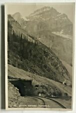 Vintage RPPC Byron Harmon #131 Upper Spiral Tunnell. AZO Stamp Block