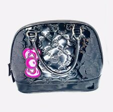 Hello Kitty Sanrio Black And Pink Patent Embossed Hand Bag