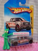 2009 Hot Wheels '09 FORD F-150 pickup truck 011∞gray; red rim oh5∞#11 New Models