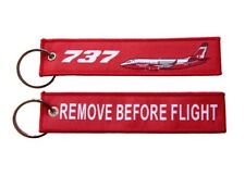 737 FireLiner Large Air Tanker Remove Before Flight Key Ring Luggage Tag