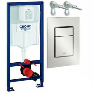 Grohe Set Rapid SL WC Vorwandelement 113 cm m. Drückerplatte Chrom