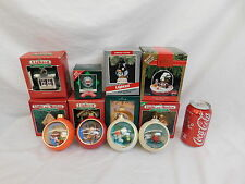 VINTAGE HALLMARK ORNAMENTS JELLY BELLY LIGHT AND MOTION FISH BOWL LOT OF 12