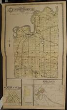 Illinois Whiteside County Map Prophetstown Emerson  Township Dbl Pg 1912  Z6#76