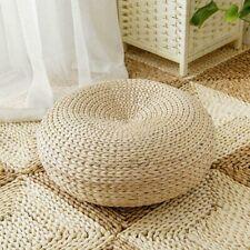 Natural Straw Round Ottoman Tatami Cushion Chair Cushion Floor Cushion Yoga
