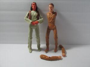Vintage 1967 Louis Marx Johnny West & Geronimo Indian  Action Figure Parts