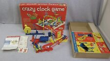Vintage 1964 Ideal Crazy Clock Game Rube Goldberg Style 100% Complete Works