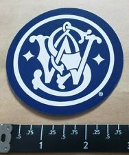 OEM Original Smith & Wesson Blue and White Vinyl Decal Sticker