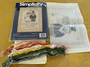 Simplicity Counted Cross Stitch Anniversary Bears 9x12-opened package