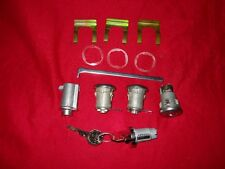 56 Chevy  B/A Complete 5 Pc. Lock Set Doors/Glove Box/Trunk/Ign.