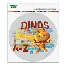 Dinosaurs from A to Z Word Art Dinosaur Train Automotive Car Vinyl Circle Magnet
