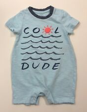 BABY GAP Cool Dude Baby Boys Romper Outfit Size 6-12 Months
