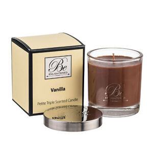 New Vanilla Petite Triple Scented Candle 100g by Be Enlightened
