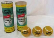Vintage 2 Cans Slazenger England Tennis Yellow Tan Balls & Cans Wimbledon Sports