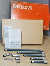 Mitutoyo No 137 104 Metric Inside Micrometer Set 50 Mm To 1000 Mm
