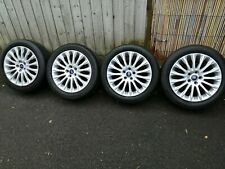 """4X GENUINE FORD FOCUS C-MAX S-MAX MONDEO TRANSIT CONNECT 17"""" ALLOY WHEELS TPMS"""