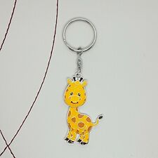 Giraffe enamel keyring