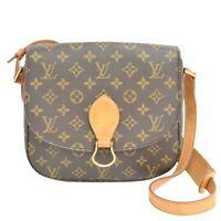 Louis Vuitton Saint Cloud GM M51242 Monogram Shoulder Crossbody Bag Brown Gold