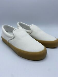 Madewell Sneaker Slip-On Womens Sidewalk Shoes In Recycled Canvas Size 11 Comfy