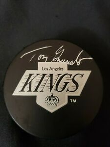 Tony Granato  - NHL- Upper Deck Authenticated Signed Hockey Puck- LA Kings