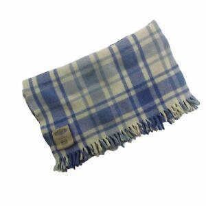 "Merino Wool Throw Blanket Faribault Woolen Mills, Minnesota, 41"" by 50"""