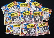 SUPERMAN COLLECTION 1954 VINTAGE George Reeves LOBBY CARD LOT OF 10 MEXICAN