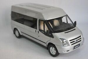 Ford Transit van model in scale 1:18 Silver