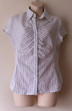 NEXT size 12 blouse shirt stretch pin striped
