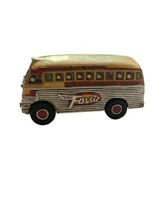 Fossil Watch Bus Around the World American Classic Yellow Advertising Display