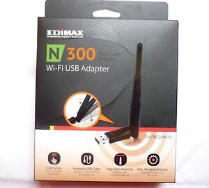 WLAN Stick 300Mbit Wireless Lan USB 2.0 Adapter EDIMAX 7612UAn V2 + USB Verl.