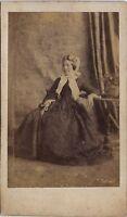 Louise Mallet París CDV Vintage Albúmina 1862
