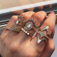 boho - schmuck knöchel - opal ring setzen wasser tropfen krone - star