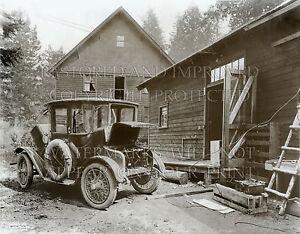 8x10 photo of Detroit Electric car charging lead acid batteries 1919 automobile