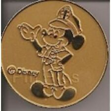 Disney Occupations Cast Security Police Officer Mickey Mouse Gold pin