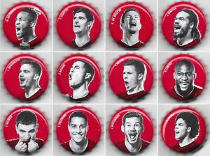 crown bottle caps sets jupiler beer Red Devils Euro 2020 set