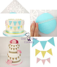 3 EASY BUNTING Triangle Cutters FMM Sugarcraft - Cake Decorating Art & Craft