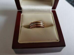9ct Tri Gold Thumb / Toe Ring ( K )