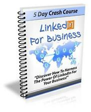 Linkedin For Business Ebook On CD $5.95 Plus Resale Rights Free Shipping