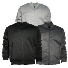 Jaqueta masculina elegante leve Multi Pista de malha de bolso zip Bombardeiro Casual Casaco