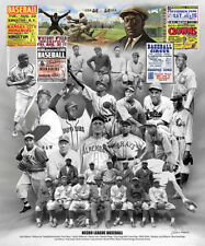 NEGRO LEAGUES BASEBALL Historic Collage Poster Print - Josh Gibson, Jackie, Bell