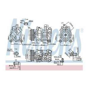 Fits BMW 5 Series F07 520 d Genuine OE Quality Nissens A/C Air Con Compressor