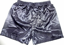 MEN'S SEXY SATIN DARK BLUE BOXER SHORT SIZE MEDIUM $22.00