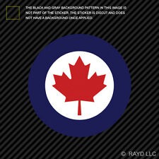 """4"""" Royal Canadian Air Force Roundel Sticker Die Cut Decal Canada RCAF CAN CA"""