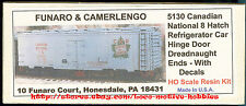 Funaro F&C 5130 1940's CANADIAN NATIONAL Old Time CN Reefer Refrigerator 8-Hatch