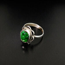 Green Sapphire 5.65 CTW & Sterling Silver Ring  WITH Appraisal $1,000