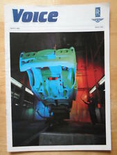 BENTLEY & ROLLS ROYCE Voice Magazine - Rare in-house brochure - 1990 Issue 1