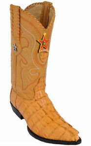 LOS ALTOS CAIMAN TAIL COWBOY BOOTS J-TOE 990102 BUTTERCUP