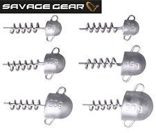 Savage Gear Cork Screw Heads Jighaken Schraubkopf, Spiral Jigköpfe für Softbaits