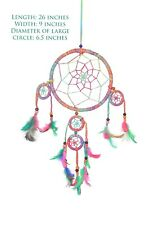 Colorful Dream Catcher Handmade Wall Hanging Decor Ornament Feather Craft Gift