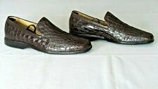 RARE! $1,400 COLE HAAN Genuine Crocodile Alligator Loafers Slipper Boots Shoe 10